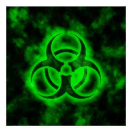 Green Biohazard Print | Zazzle