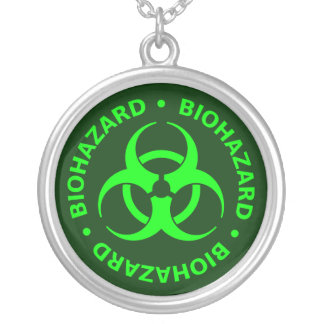 Green Biohazard Symbol Necklace