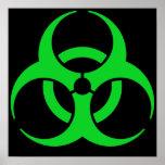Green Biohazard Symbol Poster