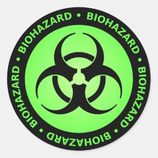 Green Biohazard Warning Sticker