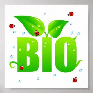 Green biologic organic natural poster