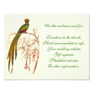 Green Bird Enclosure Card 11 Cm X 14 Cm Invitation Card