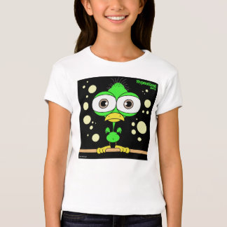 Green Bird Girls' Bella Fitted Babydoll T-Shirt