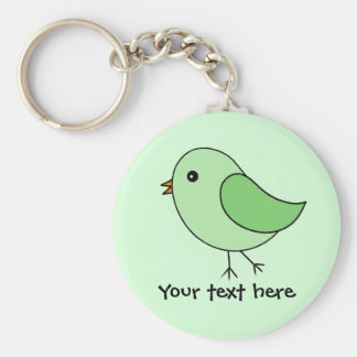 Green Bird Key Ring
