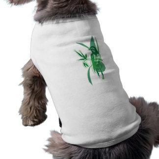 Green Bird Sleeveless Dog Shirt