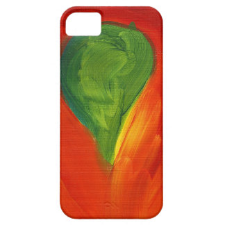 Green Bird with Love Flowing Around It Case For The iPhone 5