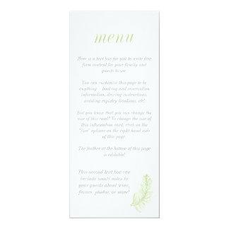 Green Birds of a Feather Stylish Menu 10 Cm X 24 Cm Invitation Card