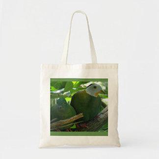 Green Birds - tote bag