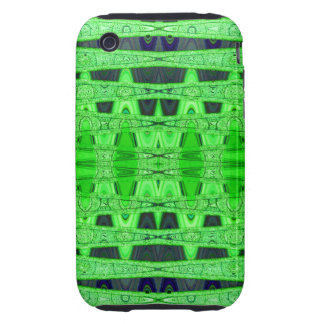green black abstract tough iPhone 3 covers