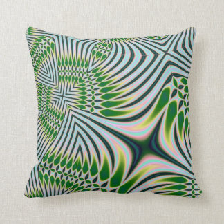 Green Black and White American MoJo Pillows