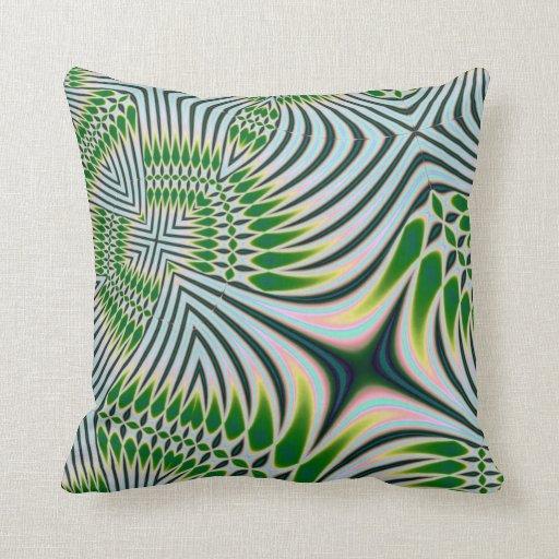 Green Black and White American MoJo Pillows