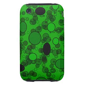 green black circles tough iPhone 3 cover