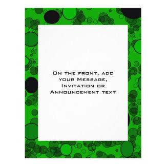 green black circles 21.5 cm x 28 cm flyer