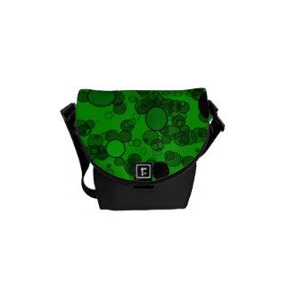 green black circles messenger bags
