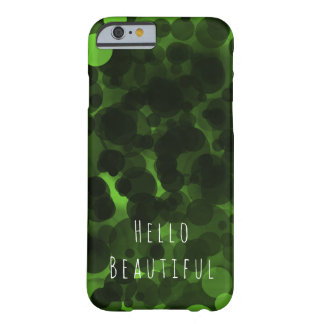Green & Black Dots Modern Chic Neon Lime Cool Barely There iPhone 6 Case