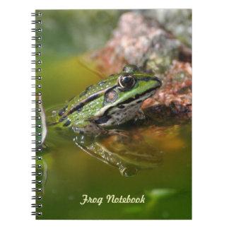 Green black frog notebook