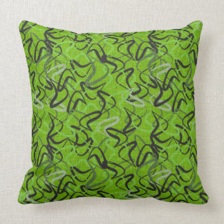 Green, Black & Gray | Fifties Boomerangs Cushion