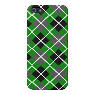 Green, Black, Grey & White Argyle iPhone 4 Case