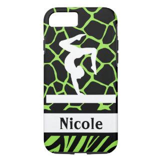 Green Black Gymnastics Cell Phone Case