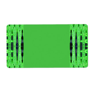 green black shipping label