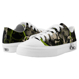 Green & Black Low Tops