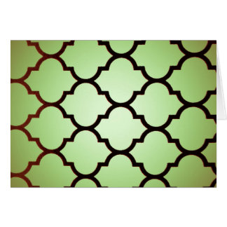 green black Moroccan Lattice Repeatable Pattern Greeting Card