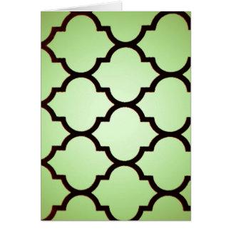 green black Moroccan Lattice Repeatable Pattern Card