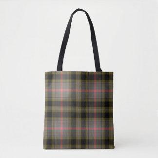 Green Black Pink Grid Tartan Plaid Tote Bag