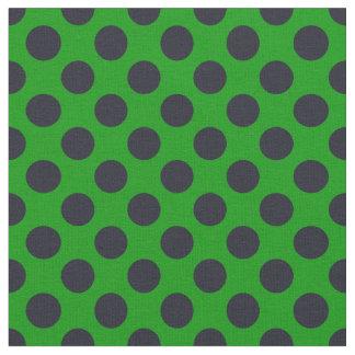 Green & Black Polka Dot Fabric