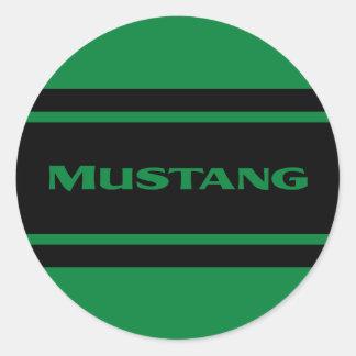 Green Black Race Stripes Shift Knob Sticker