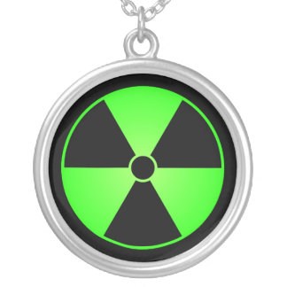 Green & Black Radiation Symbol Necklace