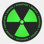 Green & Black Radiation Symbol Sticker