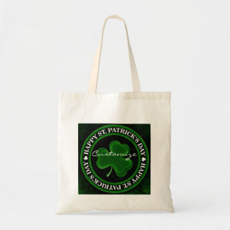 green/black Shamrock St Patrick's Day black Tote Bag