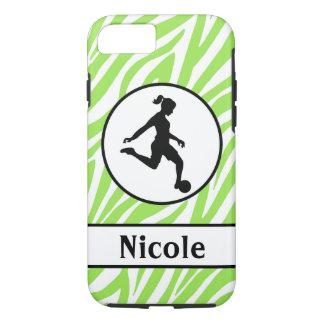Green Black Soccer Cell Phone Case