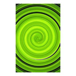 Green-black spiral pattern stationery paper