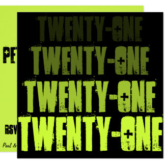 Green @ Black Twenty-One Invite