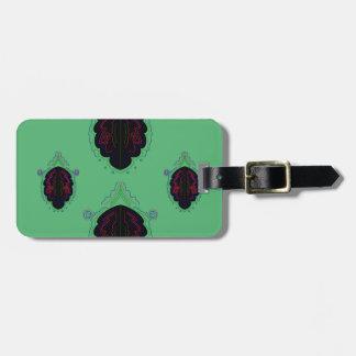 Green black vintage Ornaments Luggage Tag