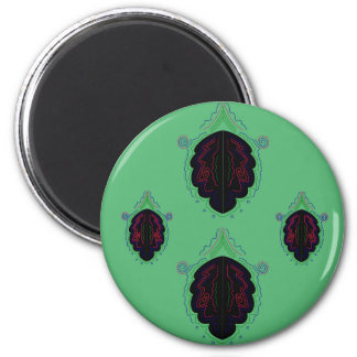 Green black vintage Ornaments Magnet