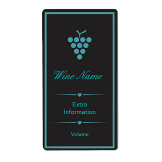 Green Black Wine Label Shipping Label