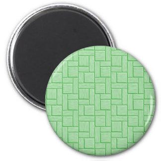 Green Block 6 Cm Round Magnet