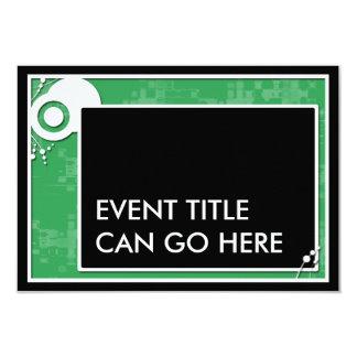 green block scheme 9 cm x 13 cm invitation card