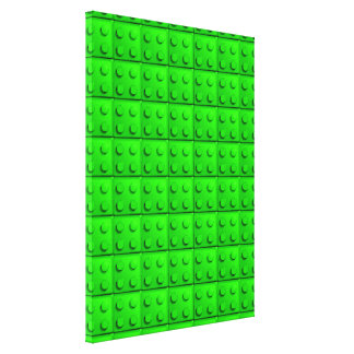 Green blocks pattern gallery wrap canvas