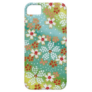 Green Blossoms Japanese Origami Print iPhone 5 Cover