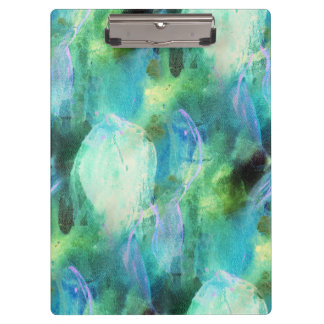 Green Blue Abstract Leaves clipboard