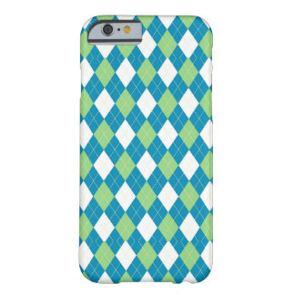 Green Blue and White Argyle Pattern Barely There iPhone 6 Case