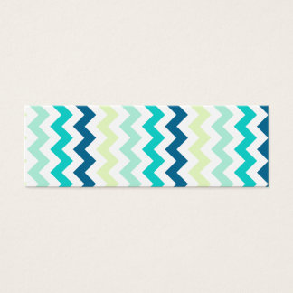 Green, Blue and Yellow Chevron Bookmark Mini Business Card