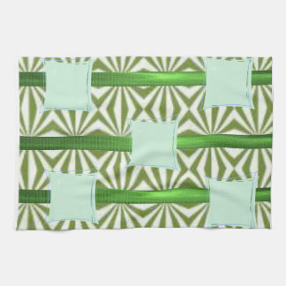 green blue aztec kitchen hand towel