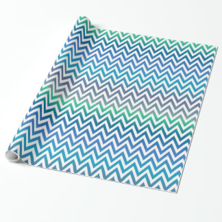 Green & Blue Chevron Wrapping Paper