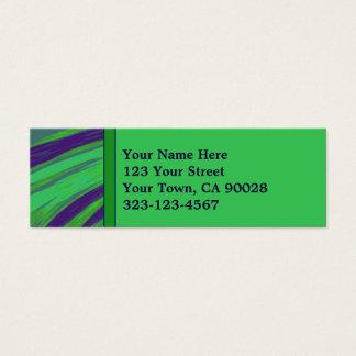 Green Blue Color Swish Mini Business Card