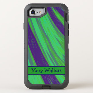 Green Blue Color Swish OtterBox Defender iPhone 8/7 Case